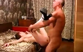 Teen fucked at the end of one's tether senior sponger
