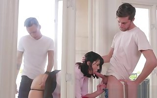 Pervertfamily- Requital Mammy fucked unconnected with both StepSons
