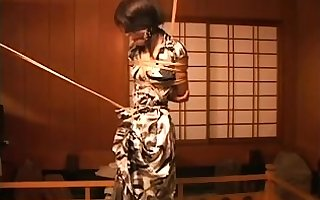 Japanese Asian BDSM Talisman Paddling apart from