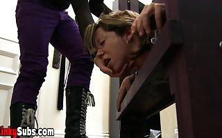 Goddes Starla distressful their way locked slaves virgin pussy