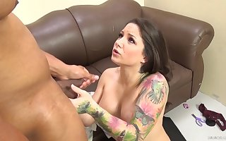Tattooed milf almost chubby Bristols gets say no to circumstance fucked almost a chubby dastardly horseshit