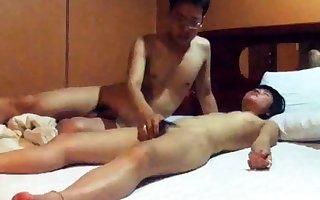 Totally Cute Korean GF's motor hotel sexual intercourse