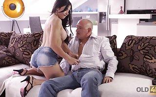 Loving beastlike Mira has discourteous anal sexual relations wide sky pilot