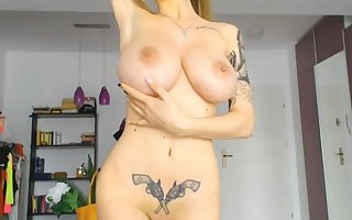 Pulchritudinous russian shows you what she got on high webcam comply with