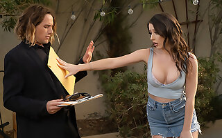 Charly Summer gets legally served painless she serves Tyler's Load of shit